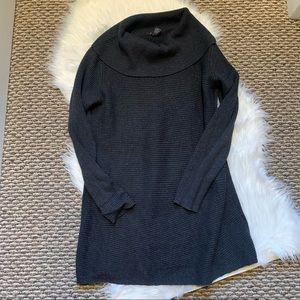 Alfani Gray Shimmer Cowl Neck Sweater Dress